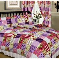 Patchwork Printed Duvet Cover Set