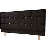 Milano Faux Leather Headboard 3 Tier Diamante