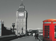 London Booth Fleece Blanket/Throw