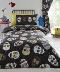 Sugar Skulls Fully Lined Curtains Set