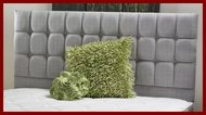 Torino Chenille Headboard- Three Tier