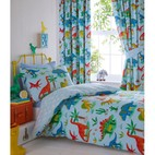Dinosaurs Blue Novelty Curtains Set